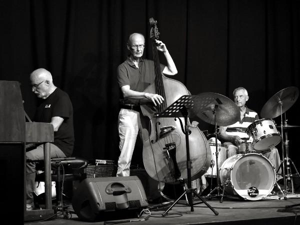 Lars Sundbergs trio (Lars Sundberg, Börje Svensson och Anders Söderling) utgjorde grunden i det avslutande jammet.