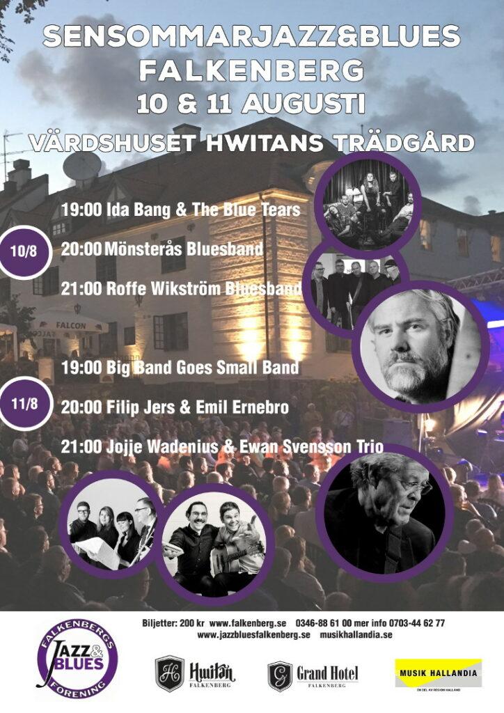 Jazz och blues i Falkenberg 10 och 11 augusti 2021